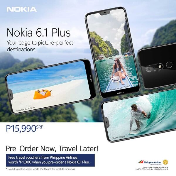 Pre-order Nokia 6.1 now, travel later