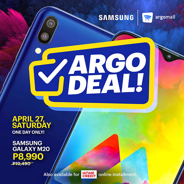 Argo Deal gives P1,500 off Samsung Galaxy M20 purchases