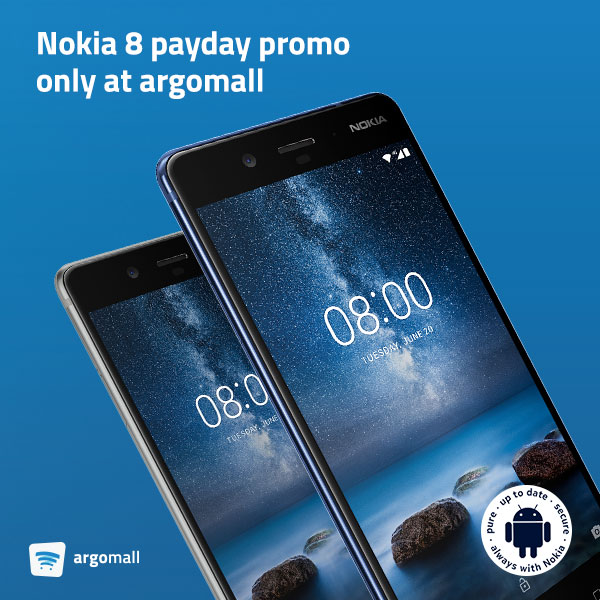 Nokia 8 Payday Promo Only at Argomall