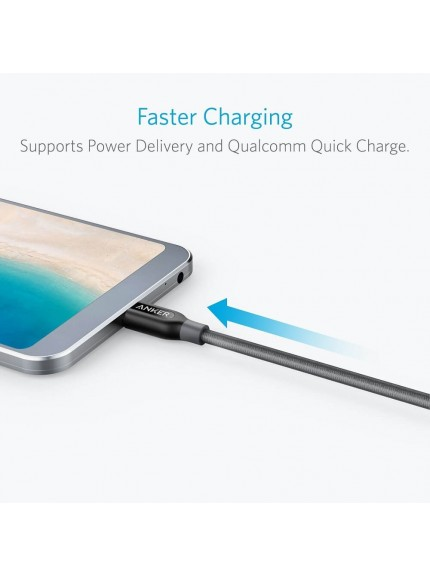Anker PowerLine+ USB-C to USB-C 2.0 Cable 3ft. (Gray)