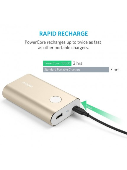 Anker PowerCore+ 10050 Portable Charger - Golden