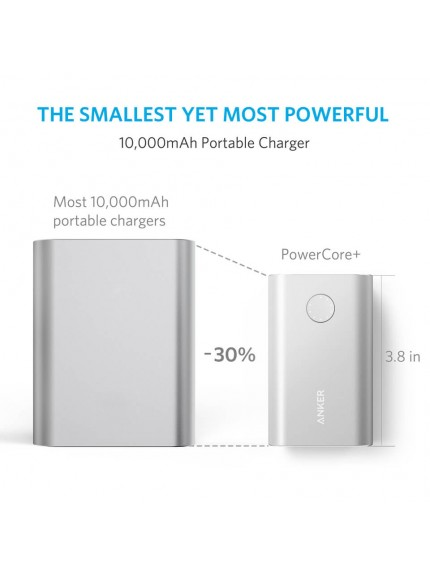 Anker PowerCore+ 10050 Portable Charger - Silver