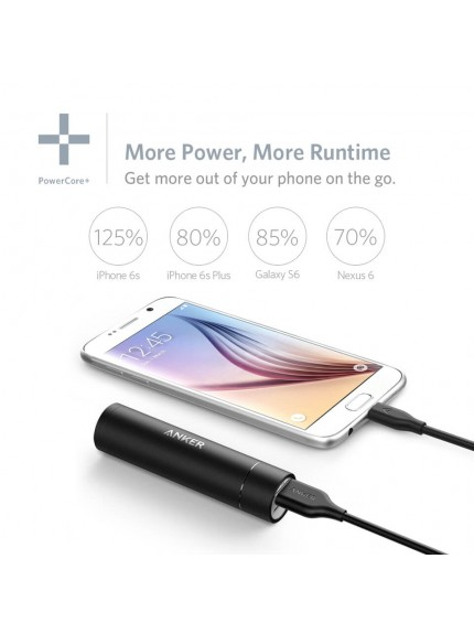 Anker PowerCore+ Mini 3350mAh Portable Charger - Black