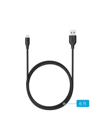 Anker Powerline Micro USB 6ft - Black