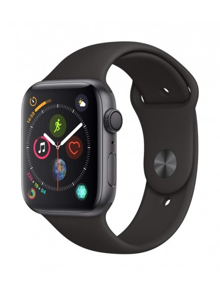 Apple Watch Series 4 GPS, 40mm Space Grey Aluminium Case with Black Sport Band