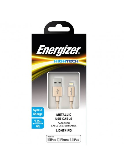 Energizer HighTech Metallic Gold Lightning USB Cable C13UBLIGGD4