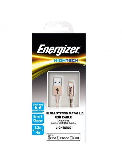 Energizer HighTech Resistant Metallic Gold Lightning USB Cable - C14UBLIGGD4