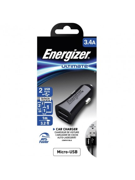 Energizer Ultimate Car Charger with 1m USB Cable - DCA2CUMC3