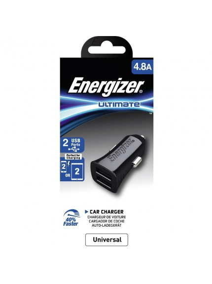 Energizer Ultimate Car Charger - DCA2DUBK3