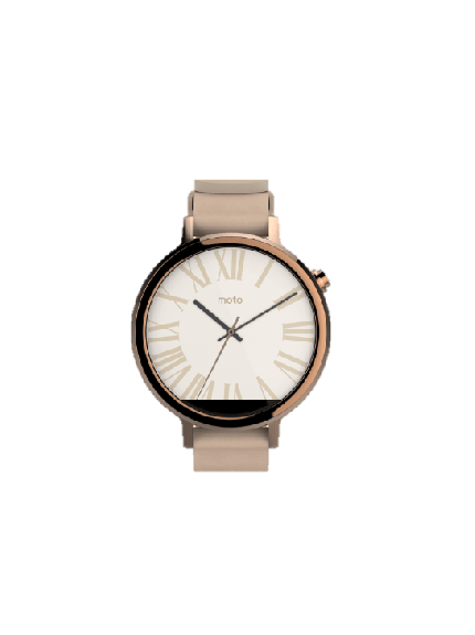 Moto 360 2nd Gen - 42mm - Rose Gold + Blush Leather