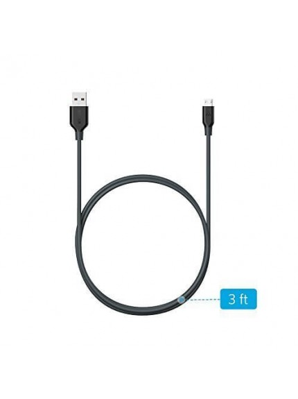 Anker Powerline Micro USB (3ft) Black Offline Packaging V3