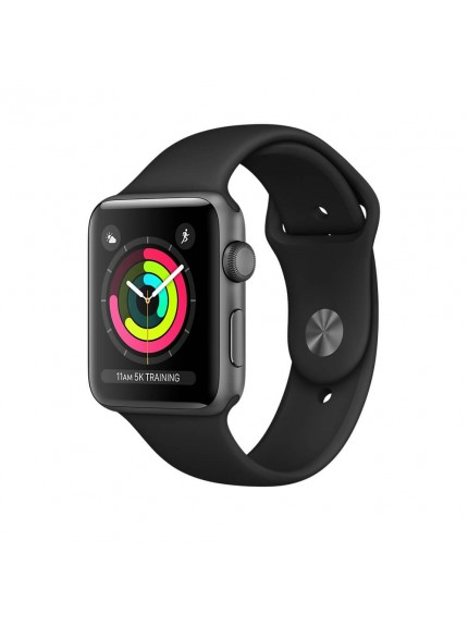 Apple Watch Series 3 GPS 38mm Space Gray Aluminium Case with Black Sport Band