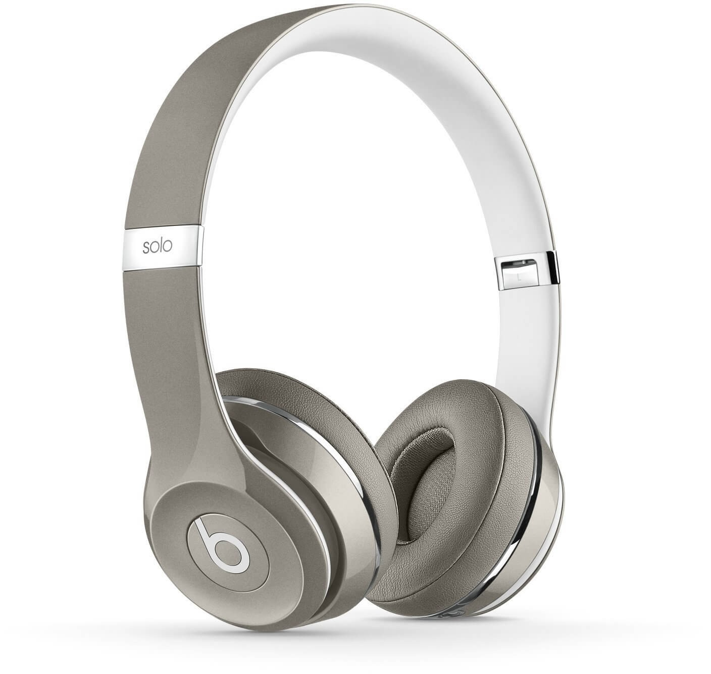 Apple Beats by Dr. Dre Solo2 On-Ear Headphones - Luxe Edition, Silver