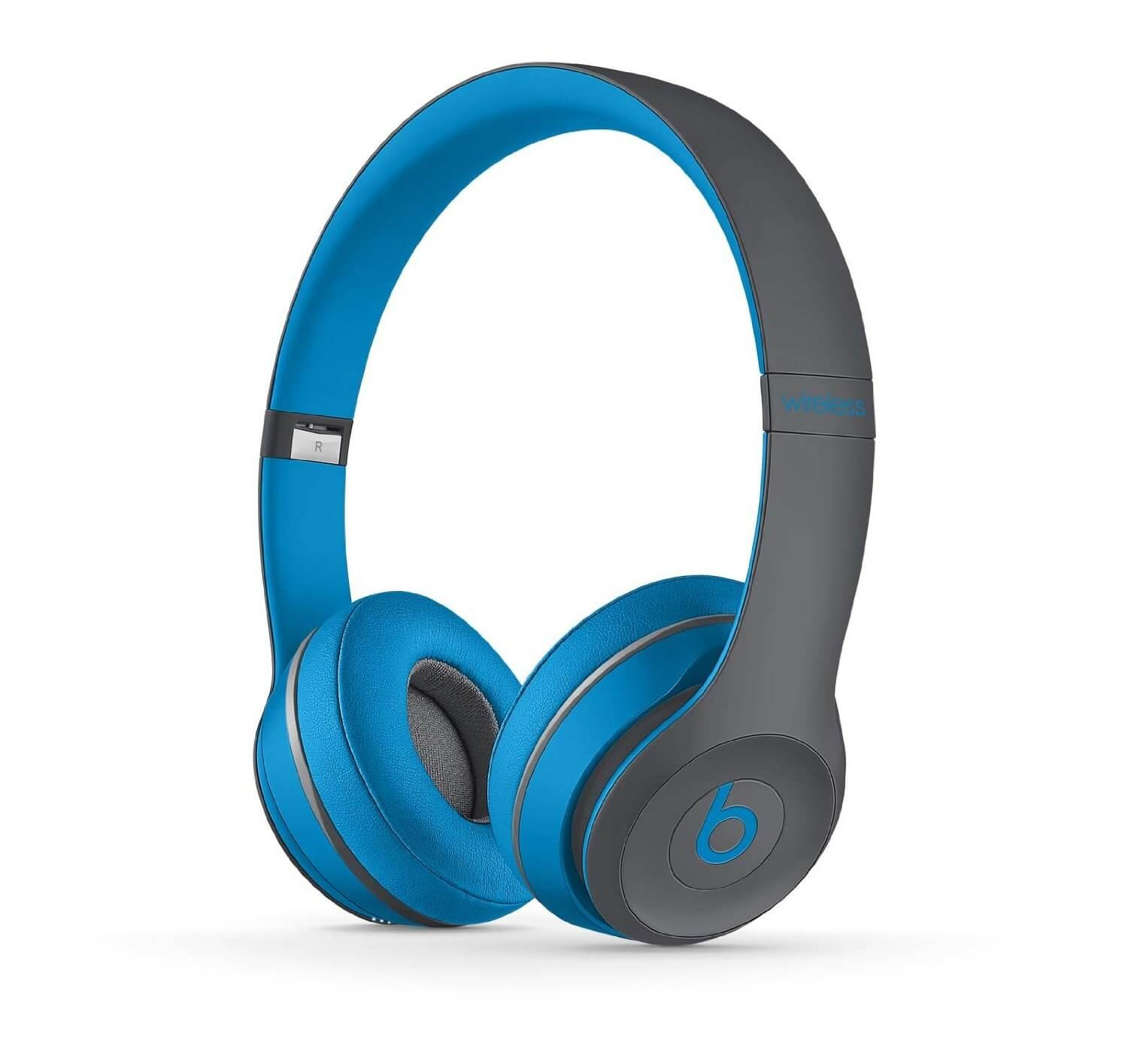 Apple Beats by Dr. Dre Solo 2 Wireless On-Ear Headphones, Active Collection - Flash Blue