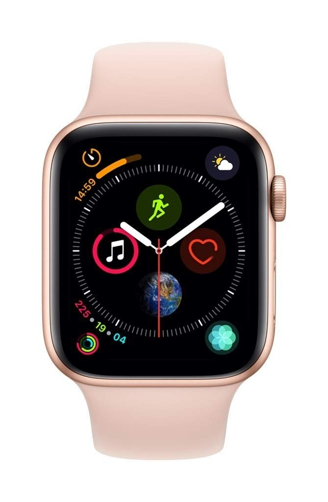 on sale 965b4 2494d Apple Watch Series 4 GPS, 44mm Gold Aluminium Case with Pink Sand Sport Band