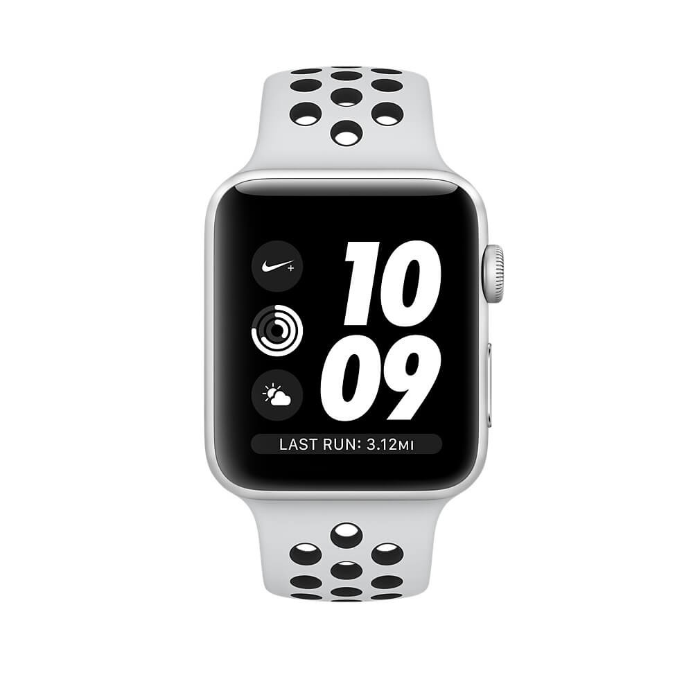 0276a51ae6c6c Apple Watch Nike+ GPS 38mm Silver Aluminium Case with Pure Platinum Black  Nike Sport Band