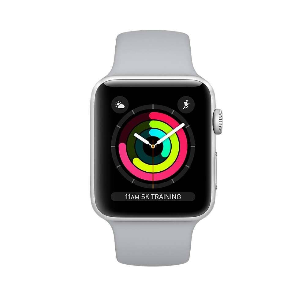 info for b8032 5b80d Apple Watch Series 3 GPS 42mm Silver Aluminium Case with Fog Sport Band