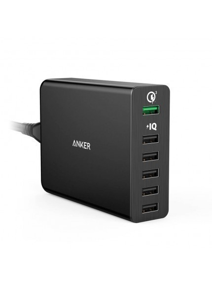 Anker Powerport 6 with Quick Charge 3.0 - Black