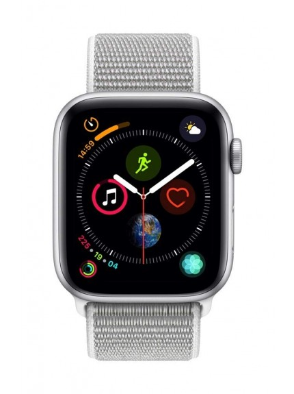 Apple Watch Series 4 GPS, 44mm Silver Aluminium Case with Seashell Sport Loop 1