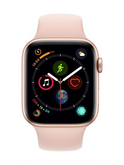 Apple Watch Series 4 GPS, 44mm Gold Aluminium Case with Pink Sand Sport Band 1