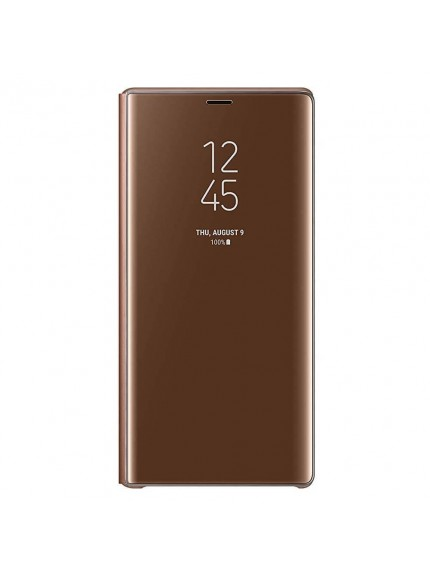 Samsung Clear View Standing Cover for Galaxy Note9 - Brown