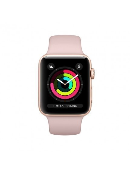 Apple Watch Series 3 GPS 38mm Gold Aluminium Case with Pink Sand Sport Band