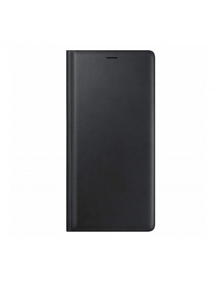 Samsung Leather Wallet Cover for Galaxy Note9 - Black