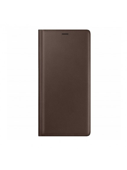 Samsung Leather Wallet Cover for Galaxy Note9 - Brown