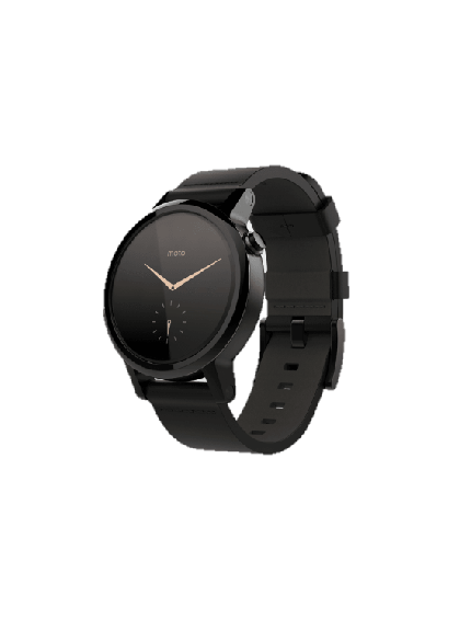 Moto 360 2nd Gen - 42mm - Black + Black Leather