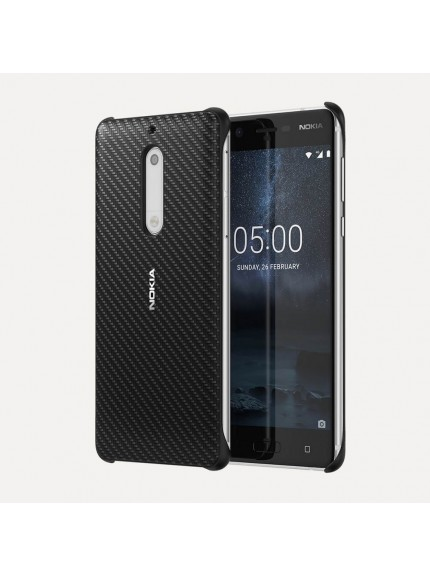 Nokia 5 Carbon Fiber Design Case - Onyx Black