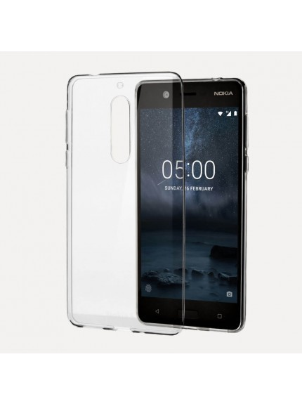 Nokia 5 - Matte Black + Slim Crystal Case Bundle