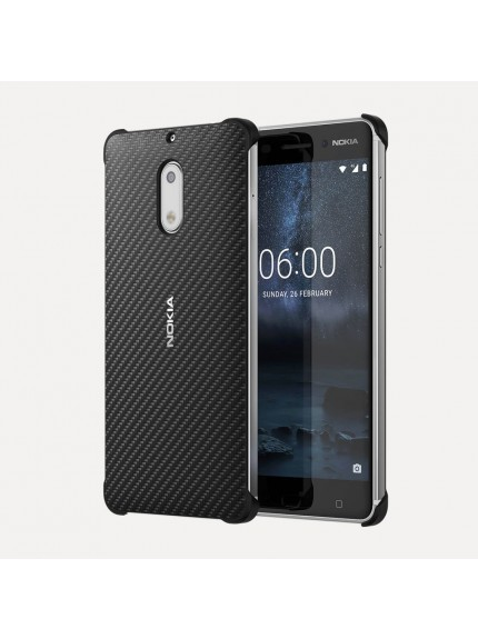 Nokia 6 Carbon Fiber Design Case - Onyx Black