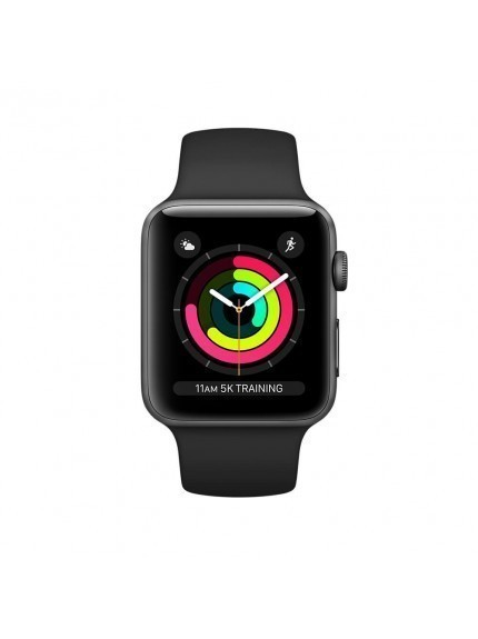 Apple Watch Series 3 GPS 42mm Space Gray Aluminium Case with Black Sport Band