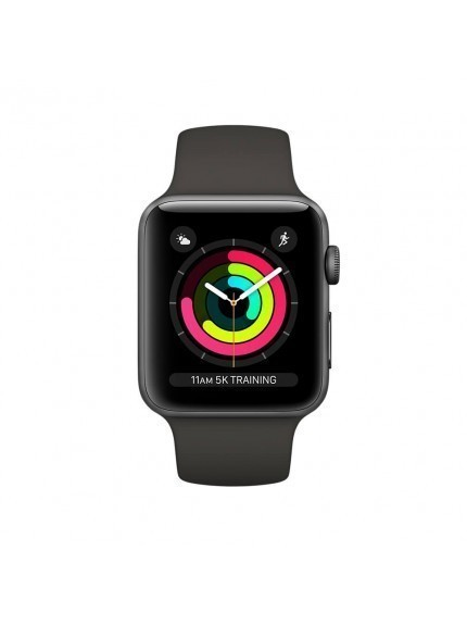 Apple Watch Series 3 GPS 42mm Space Gray Aluminium Case with Grey Sport Band