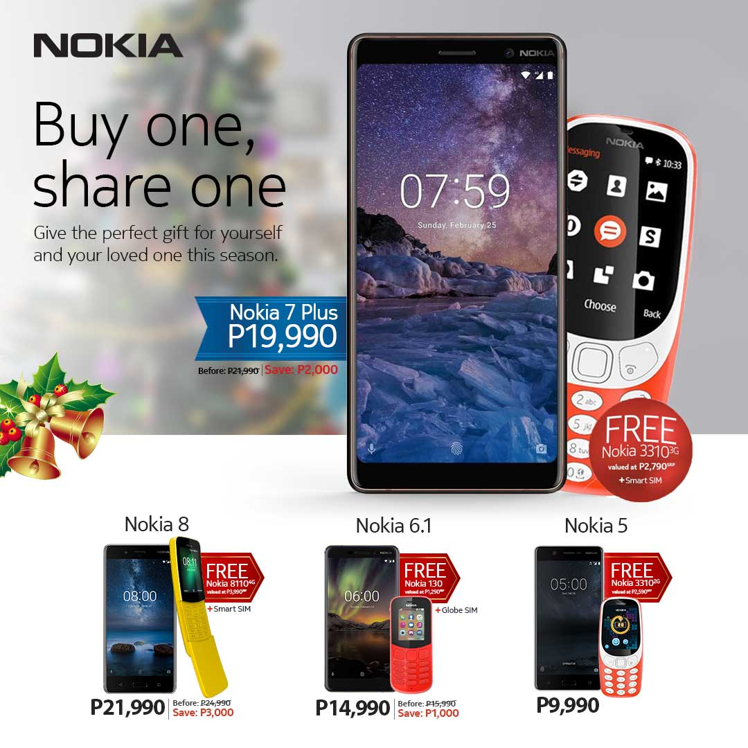 Buy One, Share One Nokia gift this Christmas