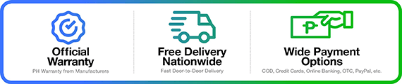 Cash on delivery and FREE delivery nationwide